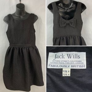 Jack Wills Size 4 Black Dress